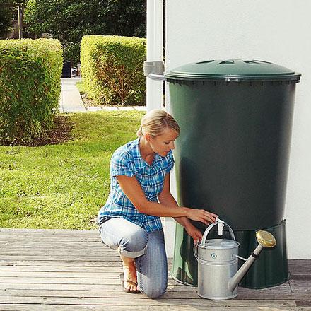 Depósito redondo para recogida de agua