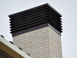frontal de remate de chimenea rectangular