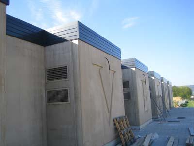 cornisa de techo de aluminio