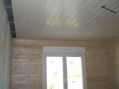 combinación con madera de techo de aluminio