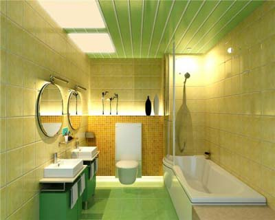 techo de aluminio en baño