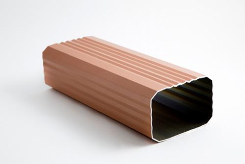 Bajate rectangular para canalón de aluminio 70 x100