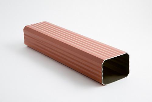 Bajante rectangular reforzada para canalones de aluminio