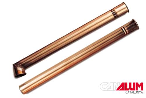 Bajantes reforzadas para canalones de cobre