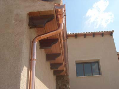 canalones de cobre instalación