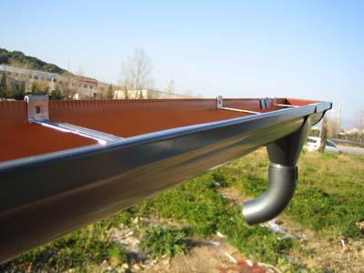 instalaciones de canalon de aluminio