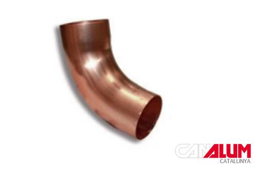 Codo de 45 grados para canalones de cobre