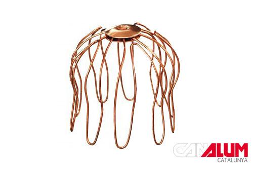 Colador para canalones de cobre