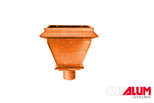 Cubetas para canalones de cobre