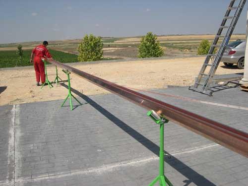 fabricación de canalones a pie de obra