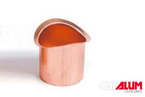 Nacimiento para canalones de cobre