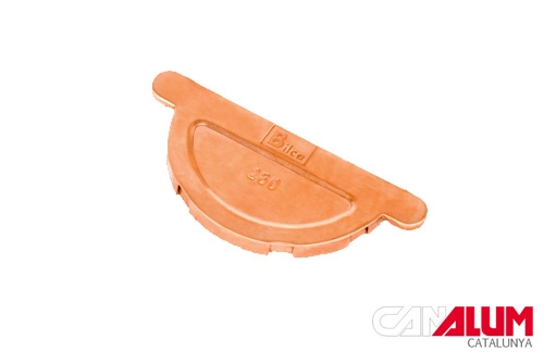 Tapas para canalon de cobre