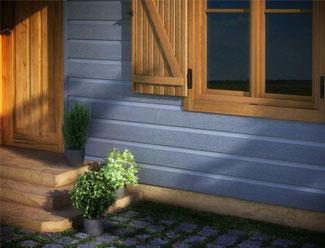 Revestimiento de fachadas imitación madera