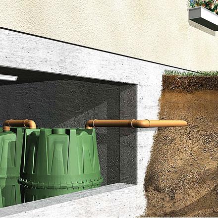 Depósito contenedor de agua soterrado