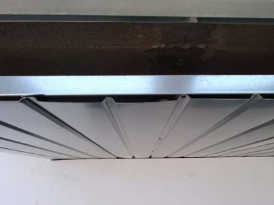 techo de aluminio instalación sobre rastreles