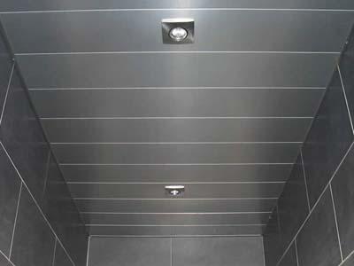 Instalaci n de techos de aluminio en barcelona canalum for Lamas aluminio techo