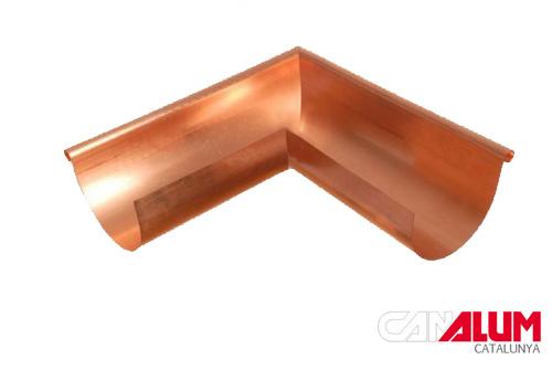 Ángulo exterior para canalones de cobre