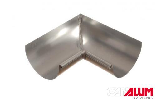 ángulo interior para canalones de zinc