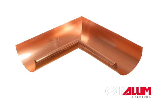 Angulo interior para canalon de cobre