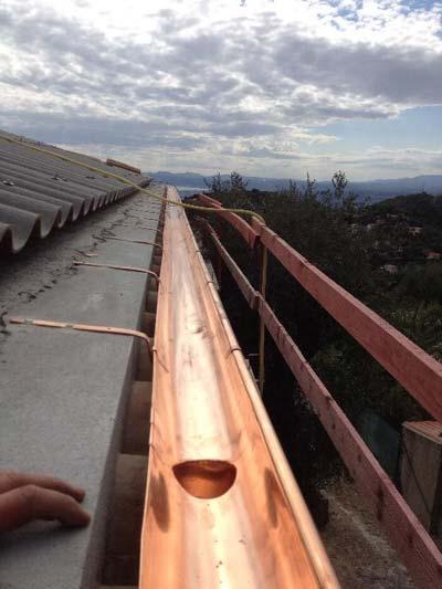 instaladores de canalones de cobre