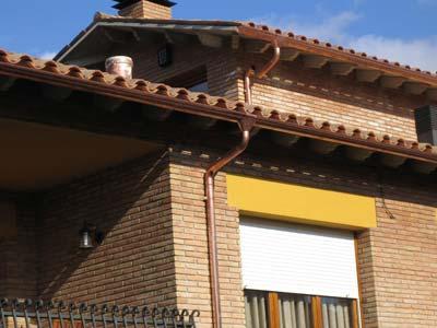 instalacion de canalones de cobre en viviendas