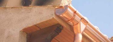 canalon de cobre en cubierta