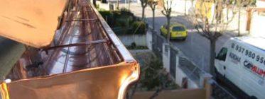 instalación de canalon de cobre en cataluña