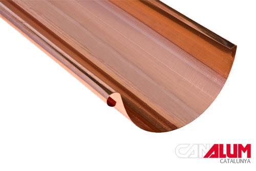 Canalon seccion 200 300 para canalones de cobre