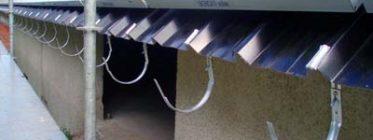 instalación previa al canalón de zinc