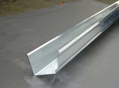perfil de canalón de zinc