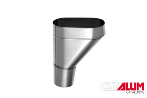 Cubeta lateral para canalon zinc
