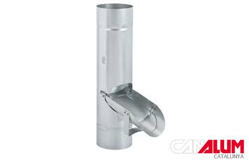 Derivador para bajantes de zinc