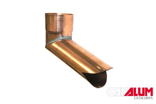 gargolas sencillas para canalones de cobre
