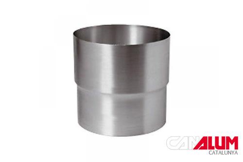 Manguito de conexión para canalón de zinc