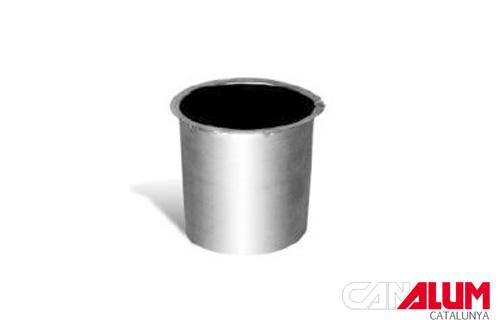 Nacimiento curvo para canalón de zinc