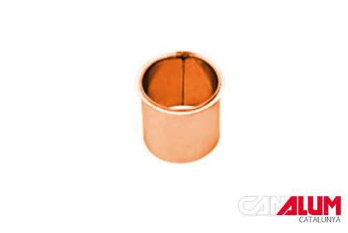 Nacimiento plano para canalones de cobre