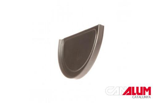 Tapas laterales para canalones de zinc