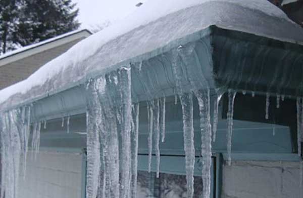 evitar el congelamiento de los canalones