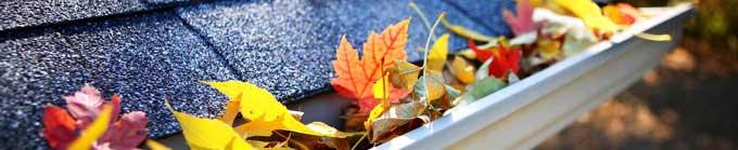 canalones atascados en otoño