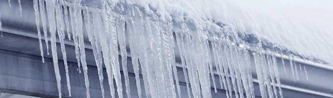 canaletas congeladas