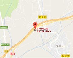 mapa canalones canalum catalunya