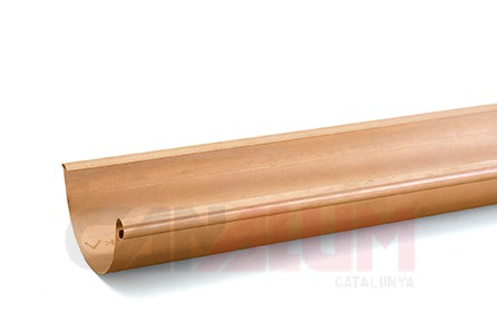 Canalón cuadrado de cobre