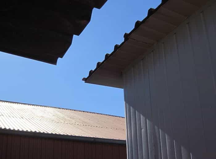 Estado de la cubierta del tejado sobre panel sandwich