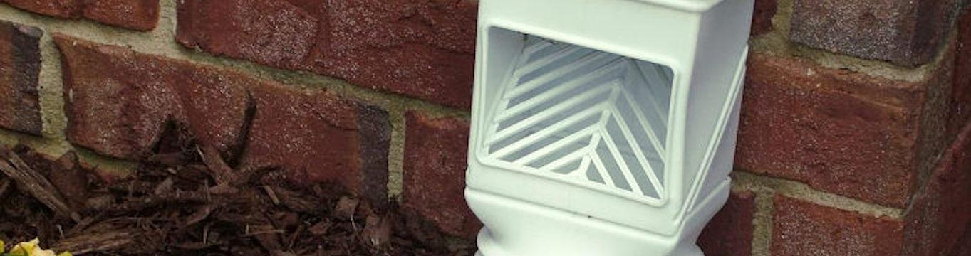 Filtro colocado en una bajante del sistema de canalones