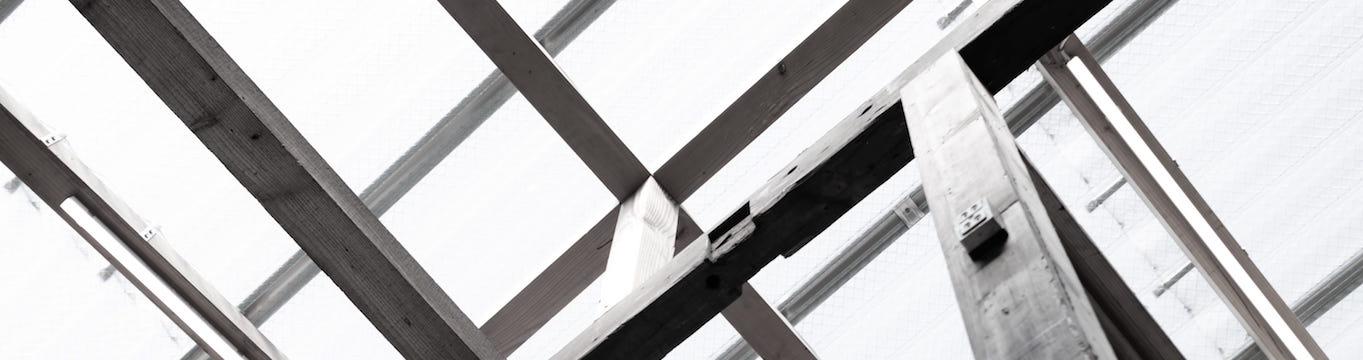 Montaje de canalones sobre techo de cristal